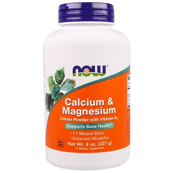 Image of Calcium & Magnesium Powder (227 g) - Now Foods