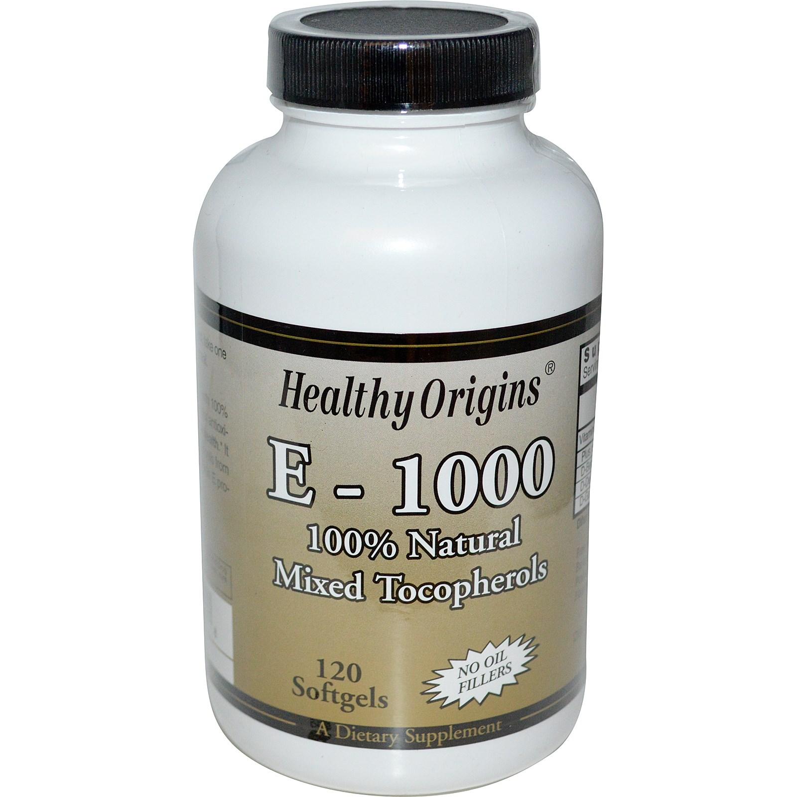 Image of Healthy Origins, E-1000, 120 Softgels