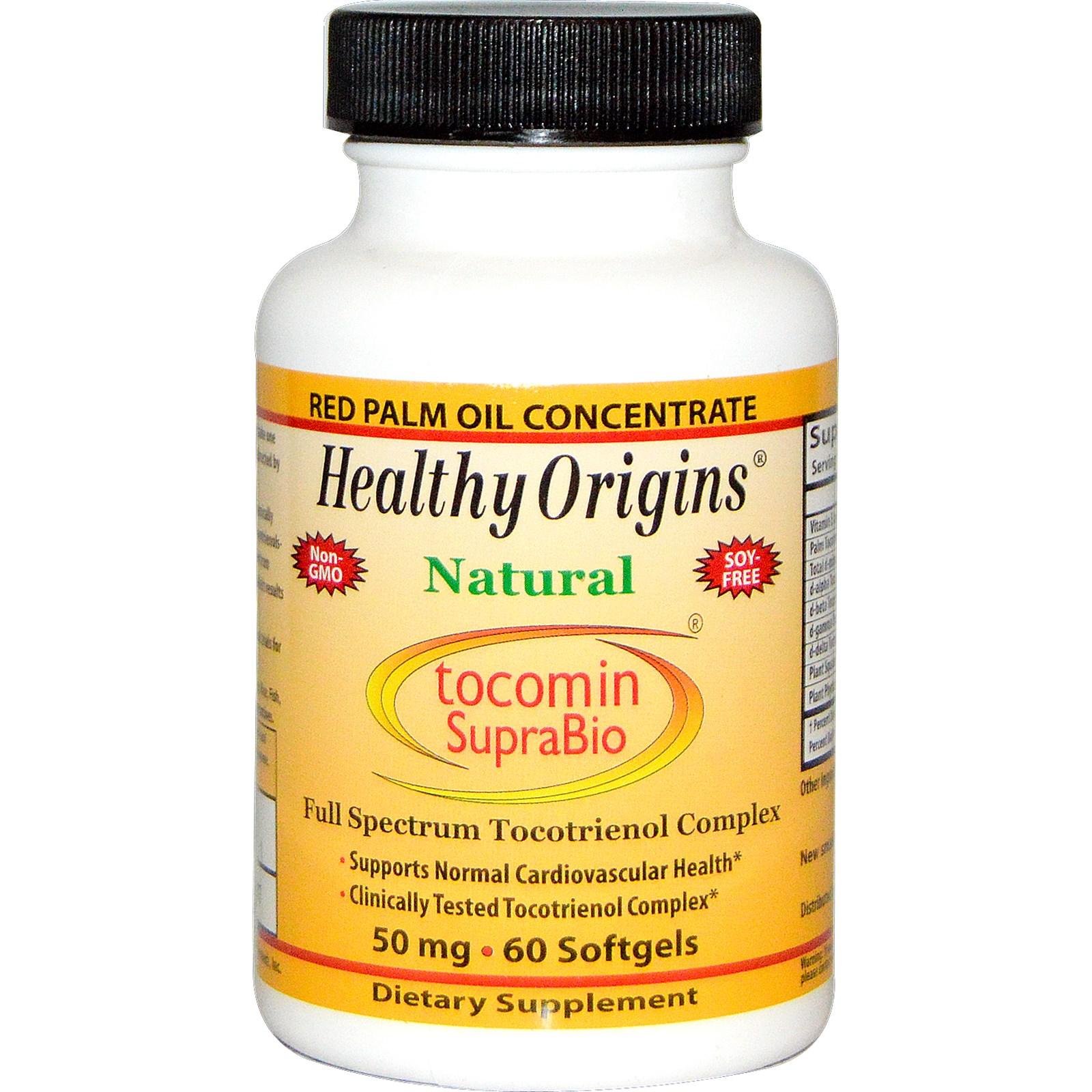 Image of Healthy Origins, Tocomin SupraBio, 50 mg, 60 Softgels