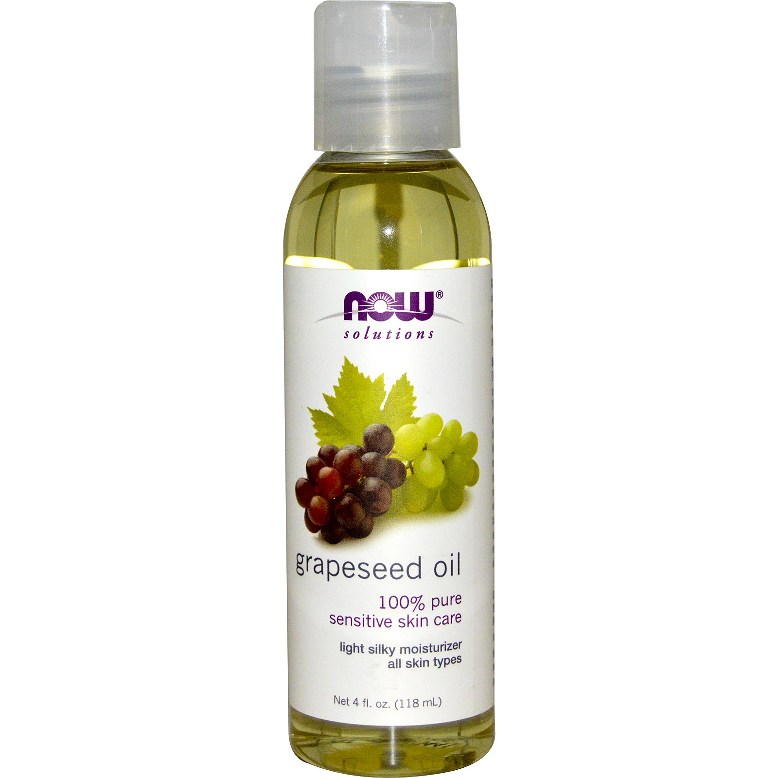 Image of Grapeseed Oil (118 ml) - Now Foods