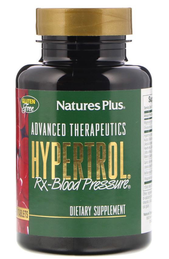Image of Advanced Therapeutics - Hypertrol RX Blood Pressure (60 Tablets) - Nature's Plus