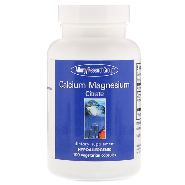 Image of Calcium Magnesium Citrate 100 Vegetarian Capsules - Allergy Research Group