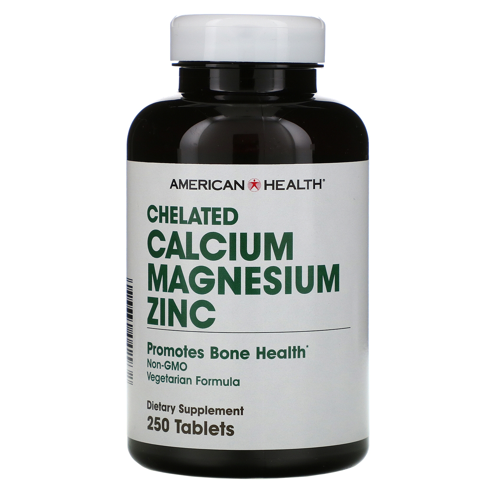 Image of Chelated Calcium Magnesium Zinc (250 tablets) - American Health