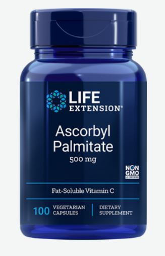 Image of Ascorbyl Palmitate 500 mg (100 Veggie Capsules) - Life Extension