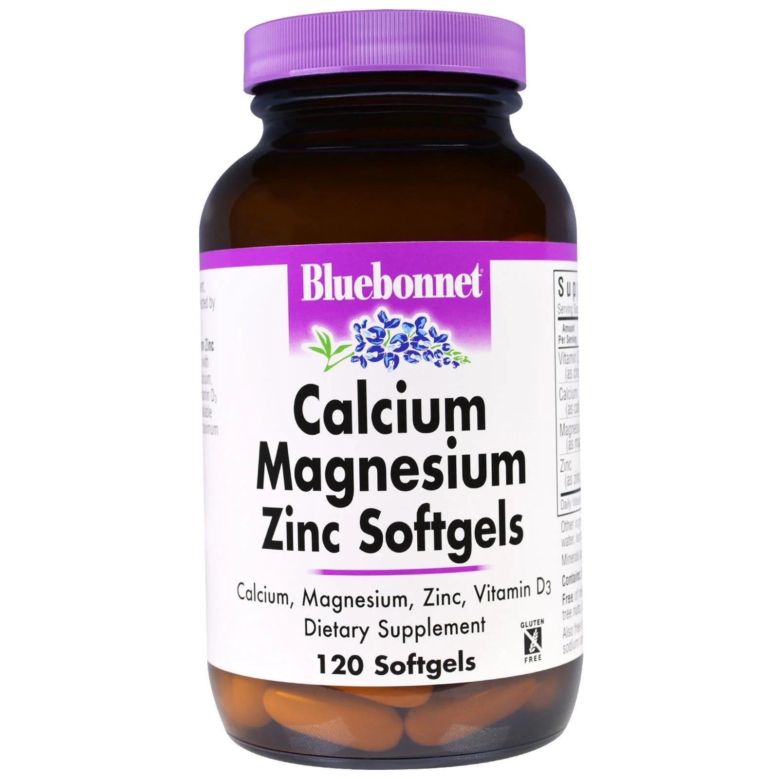 Image of Calcium Magnesium Zinc (120 softgels) - Bluebonnet Nutrition