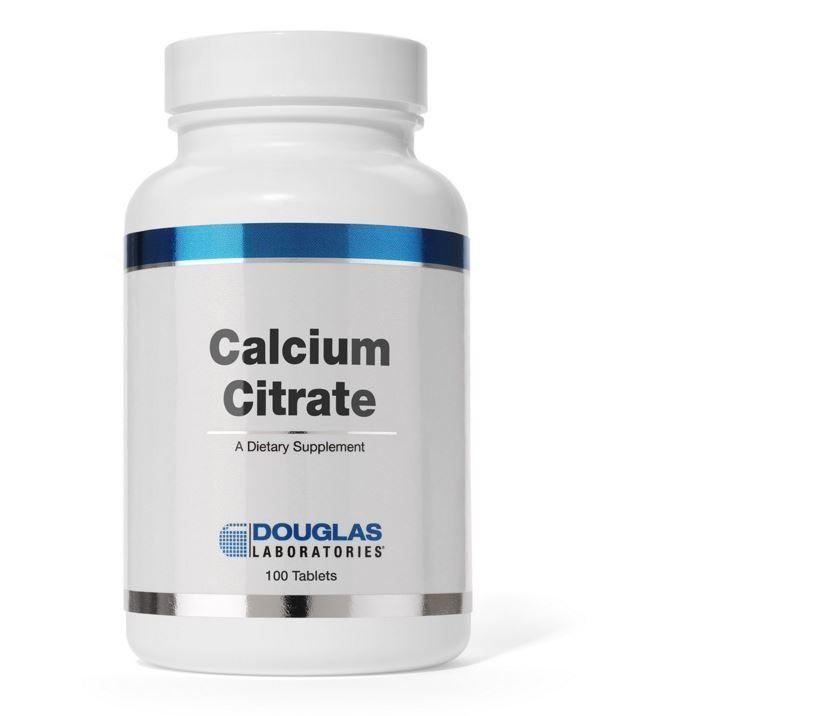 Image of Citrate de calcium - 100 comprimés - douglas laboratories