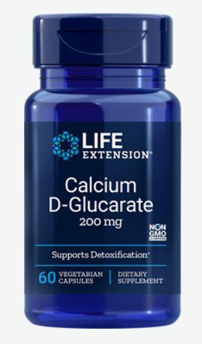 Image of Calcium D-Glucarate 200 mg (60 Veggie Capsules) - Life Extension