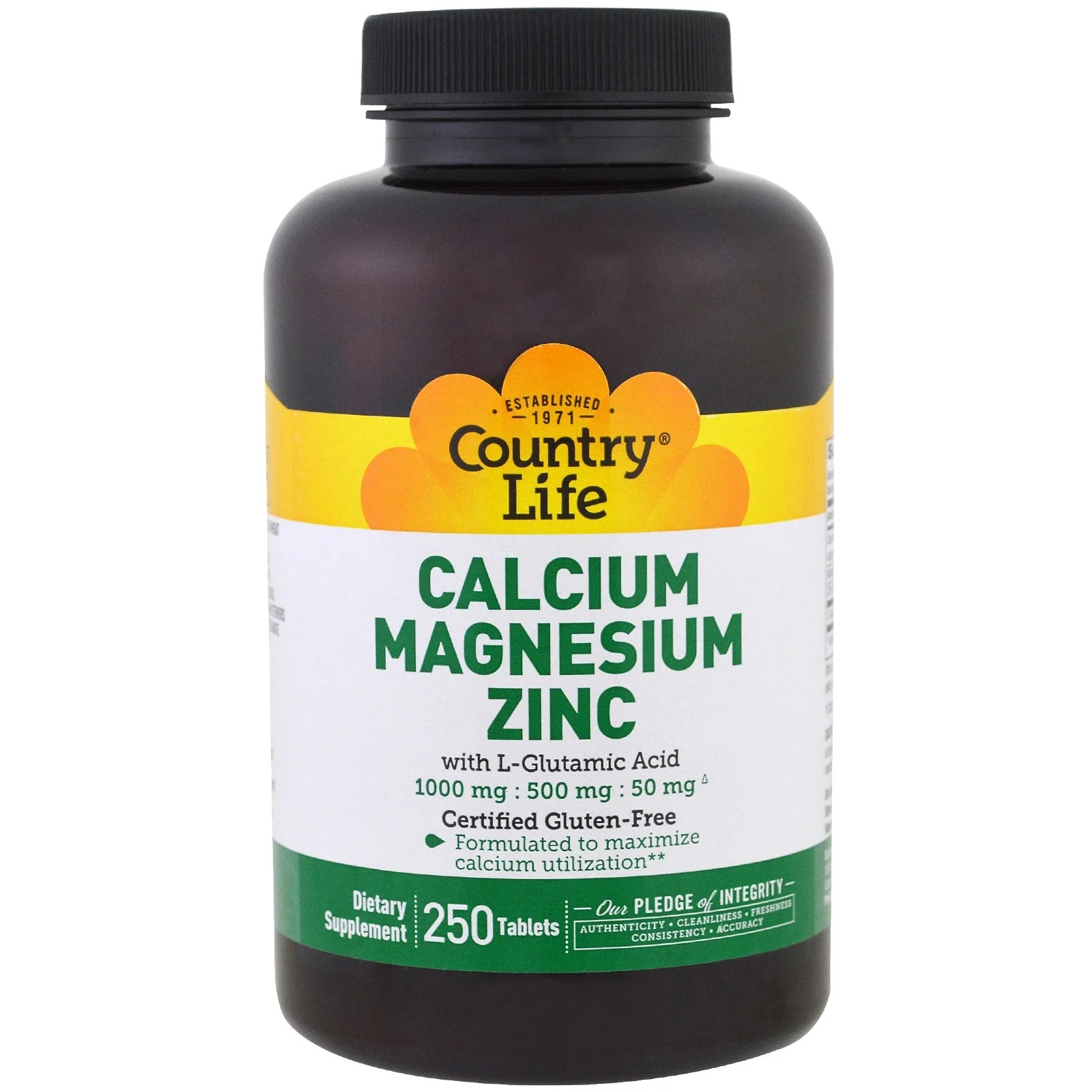 Image of Calcium Magnesium Zinc (250 Tablets) - Country Life