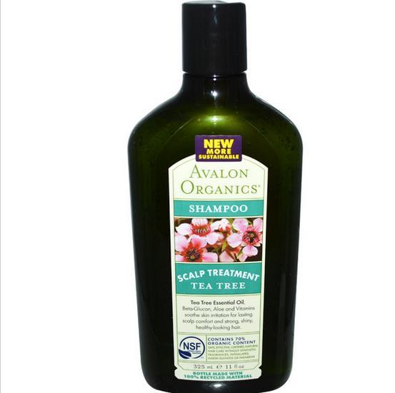 Image of Avalon Organics, Shampooing, arbre à thé traitement du cuir chevelu (325 ml)