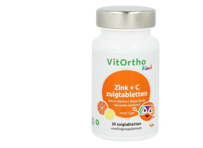 Image of Zink + C zuigtabletten (Kind) 30 zuigtabs - VitOrtho