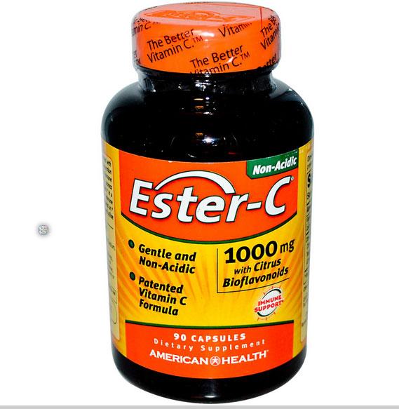 Image of American Health, Ester-C avec bioflavonoïdes d'agrumes 1000 mg, 90 Capsules
