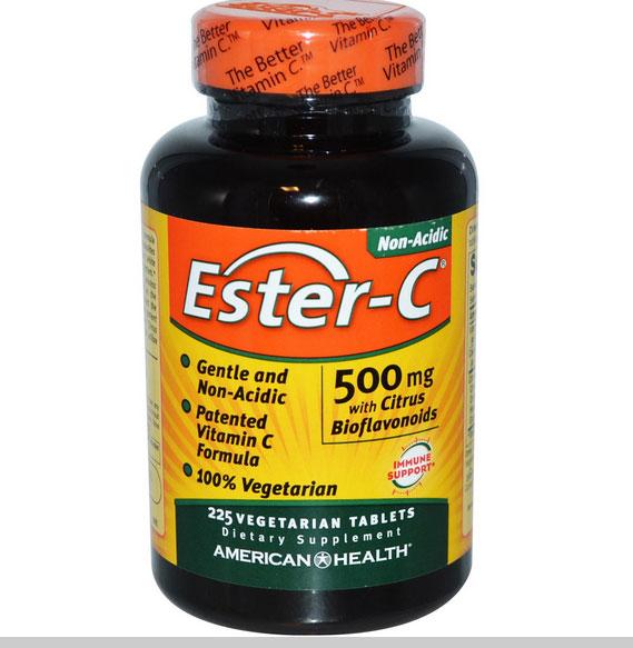 Image of American Health, Ester-C 500 mg avec bioflavonoïdes d'agrumes, 225 Veggie Tabs